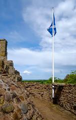 Saltire , Dirleton Castle (wwshack) Tags: castle scotland lothians historicscotland direltoncastle
