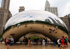Another view of Cloud Gate (photodiaryobscura) Tags: sculpture art illinois chicago millenniumpark attplaza thebean cloudgate