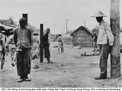 HU029512 (ngao5) Tags: china people men walking dead soldier death war asia asians many military victim group chinese pole marching males shack corpse adults prisoner backview dwelling restrained ruralscenes militarypersonnel worldwarii19391945 shandongprovince