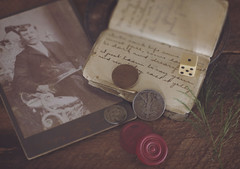 The Gambler (Fire Fighter's Wife) Tags: wood summer stilllife inspiration dice gambling nature leaves june composition vintage silver 50mm book leaf nikon soft poetry poem quiet dof artistic coins masculine antique pastel ghost creative compositions chips minimal depthoffield faded simplicity pastels dreams haunting dreamy poems inspirational simple emotions sensations matte feelings muted oldbook wordless softpastels softcolors feelingsandemotions fadedcolors ghostsofthepast d80 softhues vintagestilllife antiquestilllife fadedhues lejuebycharlesbaudelaire nineteenthcenturyfrenchpoetry nineteenthcenturypoetry