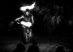 (--marcello--) Tags: portrait people urban blackandwhite fire fireworks streetphotography streetartist umbria bevagna