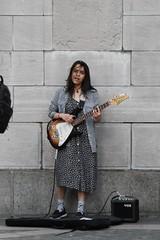 New York stories. (davidpompel) Tags: woman newyork canon manhattan columbuscircle electricguitar streetmusician