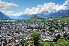 Sion et la valle du Rhne (bernarddelefosse) Tags: suisse valais valledurhne sion