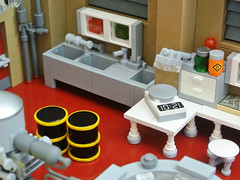 Superlab (Disco86) Tags: show walter white tv lab lego crystal interior barrel bad laboratory series rv camper meth breaking moc heisenberg greeble