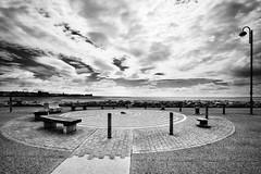 Stone Jetty Circle (nigelhunter) Tags: street urban seascape stone bench circle landscape coast seaside jetty lampost shore morecambe