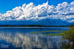 June Cloudy (Tiziano Photography) Tags: sky panorama lake mountains water june clouds montagne reflections landscape lago nikon nuvole cloudy cielo d750 giugno acqua riflesso nuvoloso viverone nikond750