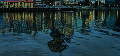 looking shakey (glasnevinz) Tags: newzealand reflections dawn waterfront patterns wellington