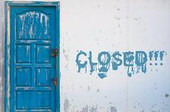 Closed!!! (Giobbanni79) Tags: door old blue texture colors vintage rust closed lock blu details creta grecia porta dettagli padlock colori decadence chiuso ruggine vecchio serratura lucchetti decadenza lucchetto