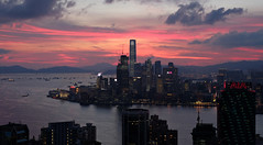 """""""kowloon peninsula"""" (hugo poon - one day in my life) Tags: city red summer sky cloud skyline architecture 35mm hongkong colours skyscrapers dusk kowloon icc tsimshatsui northpoint reminiscing westkowloon victoriaharbour kowloonpeninsula xpro2 cloudviewroad"""