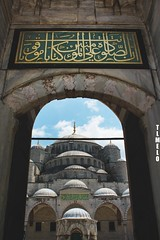 Blue Mosque - Sultan Ahmet Camii - Istanbul - Turkey (TLMELO) Tags: turkey islam faith pray istanbul reza istambul turquia f quran koran yenicami isl newmosque sanctasophia islo mesquitanova alcoro sanctasapientia