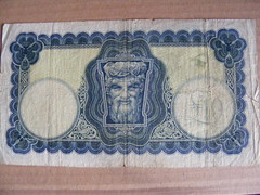 Old Irish LADY LAVERY Banknotes (seanfderry-studenna) Tags: old ireland irish money lady vintage paper one 1 europe european notes euro 10 antique 5 five central bank eire na pre ten banc punts banknotes eireann numismatics lavery heireann ceannais poundseire