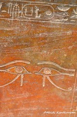Wadjet eyes and Maatkara (konde) Tags: eyes ancient tomb goddess sarcophagus isis 18thdynasty hieroglyphs valleyofthekings hatshepsut deities wadjet kv20 newkingdom sarkofagi maatkara