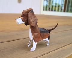 Origami Beagle (Lonely-Shiba) Tags: original dog origami