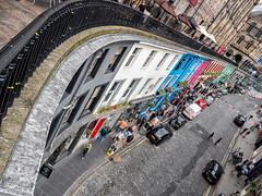 Serendipitous (Graeme Pow) Tags: street city edinburgh horizon scene squint wonky railings victoriastreet victoriaterrace serendipitous