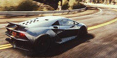 Lines and Curves (polyneutron) Tags: car silver photography pc motionblur videogame needforspeed lamborghini supercar rivals racer nfs photomode sestoelemento