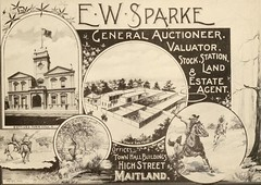 E.W. Sparke, Maitland, N.S.W. (maitland.city library) Tags: maitland newsouthwales beautiful sydney fertile west newcastle coalopolis george robertson 1896 university california libraries e w sparke auctioneer estate agent valuator stock station land office town hall buildings high street