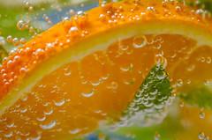Bubbles (hjuengst) Tags: orange macro closeup drink bubbles mm makro hmm nahaufnahme fizzy getrnk blasen kohlensure carbonicacid macromondays