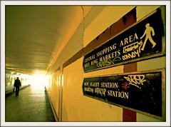 One Direction (david.hayes77) Tags: subway city birmingham westmidlands 2000 bullring pedestrian citycentre fuji velvia birminghamuk onedirection film underpass