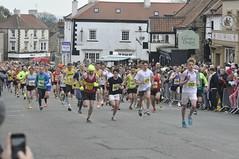 Kirby 10k run, after the Tour de Yorkshire had gone through (petelovespurple) Tags: kirby runners northyorkshire kirkbymoorside 10krun ryedale kirkby10krun