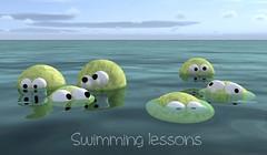 Swimming (ILO CG ART) Tags: children 3d funny humorous comic render character rendering cgi 3dmodel cgart pongs ilodesigns