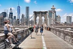 Selfie Brooklyn Bridge (dirklie65) Tags: bridge people usa newyork skyline brooklyn kiss photographer kus selfie