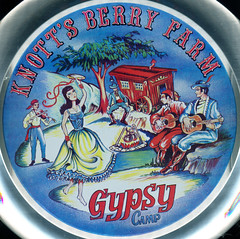 Gypsy Camp serving tray (jericl cat) Tags: camp illustration vintage logo dancer ephemera souvenir tray 1970s gypsy serving gypsies roaring knotts 20s berryfarm