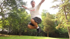 Leaping for Emma (pikespice) Tags: jump jumping widescreen unflattering werehere 10millionphotos ltlt hereios lovetoleapthursday