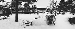 Historical Government House (Takayama Jinya) (Jon-F, themachine) Tags: winter blackandwhite bw panorama snow monochrome japan digital asian asia cellphone monochromatic mobilephone  nippon japo grayscale oriental orient fareast takayama  gifu   bnw nihon digitalphotography iphone japn hidatakayama 2016    nocolor    gifuken     iphonography xapn jonfu iphoneography iphone6  snapseed
