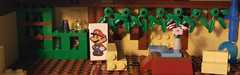 The house of the Goombas. Lego Paper Mario 64 Goomba village MOC (pabloska_ebububbu) Tags: lego paper mario 64 goomba village supermari papermario legopapermario sets goompa goombario goombaria goombmama goompapa wii u pabloska edububbu mrio maker super color splash legomariokart kart
