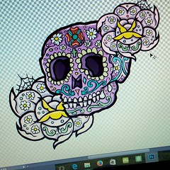 Workin' on... (Viriu ( chatarra ilustrativa )) Tags: rock tattoo mexico skull design punk ilustration ilustracion ilustracin calaca mexicanskull