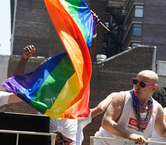 Blowing the whistle (EC Stainsby) Tags: street nyc newyorkcity summer usa ny newyork fun outdoor colorfull pride parade east lgbt avenue fifth thirtieth colourfull sunnny