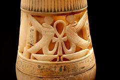 Egyptian Ankh (scribe13 ~ Maureen) Tags: seattle museum washington king treasure egypt exhibit egyptian pharaoh vase ankh artifact tut seattlecenter relic tutankhamun pacificsciencecenter goldenkingandthegreatpharaohs
