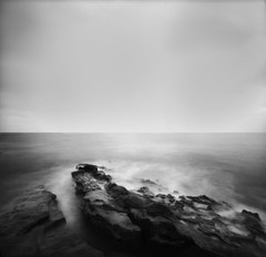 imagine (Andy Kennelly) Tags: california bw film la rocks long exposure fuji image pinhole imagine medium format 100 zero jolla acros nolens f138