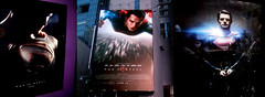 New York Superman Poster ADs 00444 (Brechtbug) Tags: man steel new superman billboard theater poster times square nyc 2013 gotham city movie billboards york work working worker paint painting advertisement dc comic comics hero superhero krypton alien dark knight bat adventure book character near broadway paramount clock tower building evening
