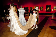 Costume Parade (Wimbledon College of Art) Tags: show fashion painting design costume gallery fine paintings style palace tudor historic parade queens buckingham catwalk interpretation in