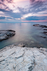 Savudrija long exposure (Alja Vidmar | ADesign Studio) Tags: longexposure seascape clouds rocks croatia filter adriaticsea cokin gnd savudrija nd4x