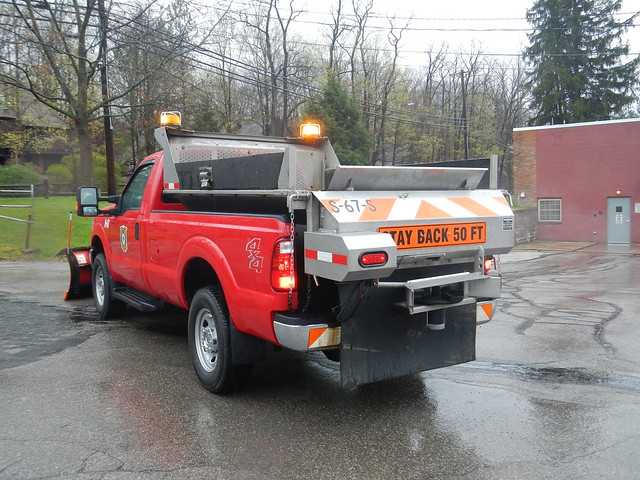 street snow ford truck salt pickup western plow department f350 chagrinfalls spreader