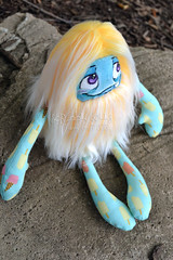 Popsicle, the Summertime Monster (Scribble Dolls) Tags: summer cute art ice monster yellow fur toy happy stuffed furry doll bright sweet handmade teal critter cream fluffy fluff plush softie fabric cotton stuffedanimal handpainted plushie faux handsewn cloth creature popsicle sewn scribbledolls