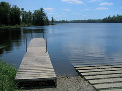 Crescent Lake campground dock