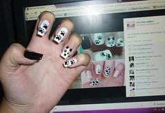 Unha panda (Karoline Bione) Tags: panda unhas nailart unha unhadecorada