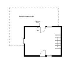 Floor Plan (Pythaglio) Tags: county ohio house log floor union arnold plan historic jerome township