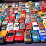 Toy Cars at a dubs at the castle stand