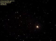 Globular Cluster Messier 62 or M62 (Tom Wildoner) Tags: sky canon stars timelapse cluster telescope astrophotography astronomy nightsky messier universe constellation meade m62 ophiuchus globular Astrometrydotnet:status=solved ngc6266 tomwildoner Astrometrydotnet:id=supernova1466