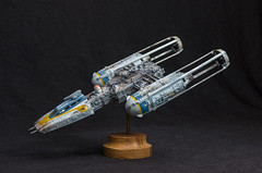 Revell Y-Wing Conversion (Haystack Hair) Tags: star model conversion kit wars kitbash revell ywing