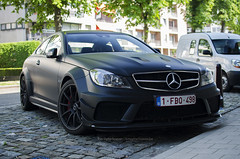 DSC_0128 (Tomskii) Tags: black car leuven mercedes benz belgium performance engine series v8 matte amg c63