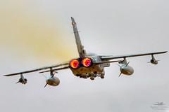 RAF Panavia Tornado GR4 (Mike Palmer. Not the Milk Tray Man) Tags: plane canon airplane eos scotland force display fife aircraft air jet royal aeroplane 300mm landing airshow 7d arrival tornado runway f28 raf leuchars departing panavia gr4 adx egql