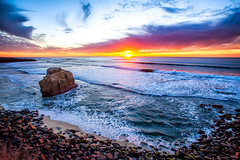 Ocean Sunset in San Diego by Michael Matti