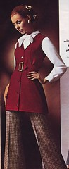 Spiegel 69 fw red belted tunic (jsbuttons) Tags: red 1969 fashion vintage clothing 60s buttons spiegel womens blouse bow button vest sixties fashions vintageclothing