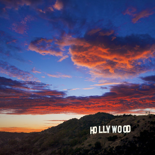 Hollywood Sign At Sunset By MichaelHollywood Wallpaper