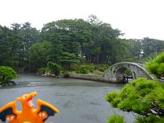 Charizard in Hiroshima, Hiroshima 10 (Shukkei-en Garden) (Kasadera) Tags: toys hiroshima figure pokemon pokmon  charizard   glurak  shukkeiengarden pokemonkids   dracaufeu